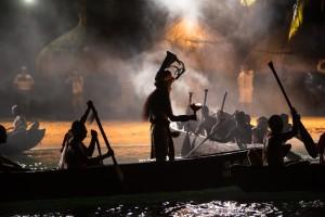 Llegada de los canoeros, Foto: Melissa Cervera Núñez