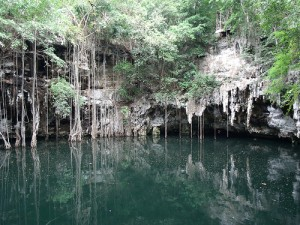 Cenote Yokdzonot - Foto de Internet.