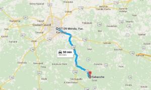 Como llegar a Sabacché - Foto de Google maps.