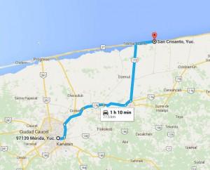 Como llegar a San Crisanto - Foto de Google maps.