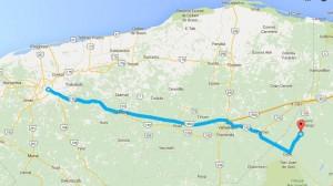 Como llegar a Punta Laguna - Foto de Google maps.