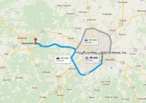 Como llegar a Sihunchend - Foto de Google maps.