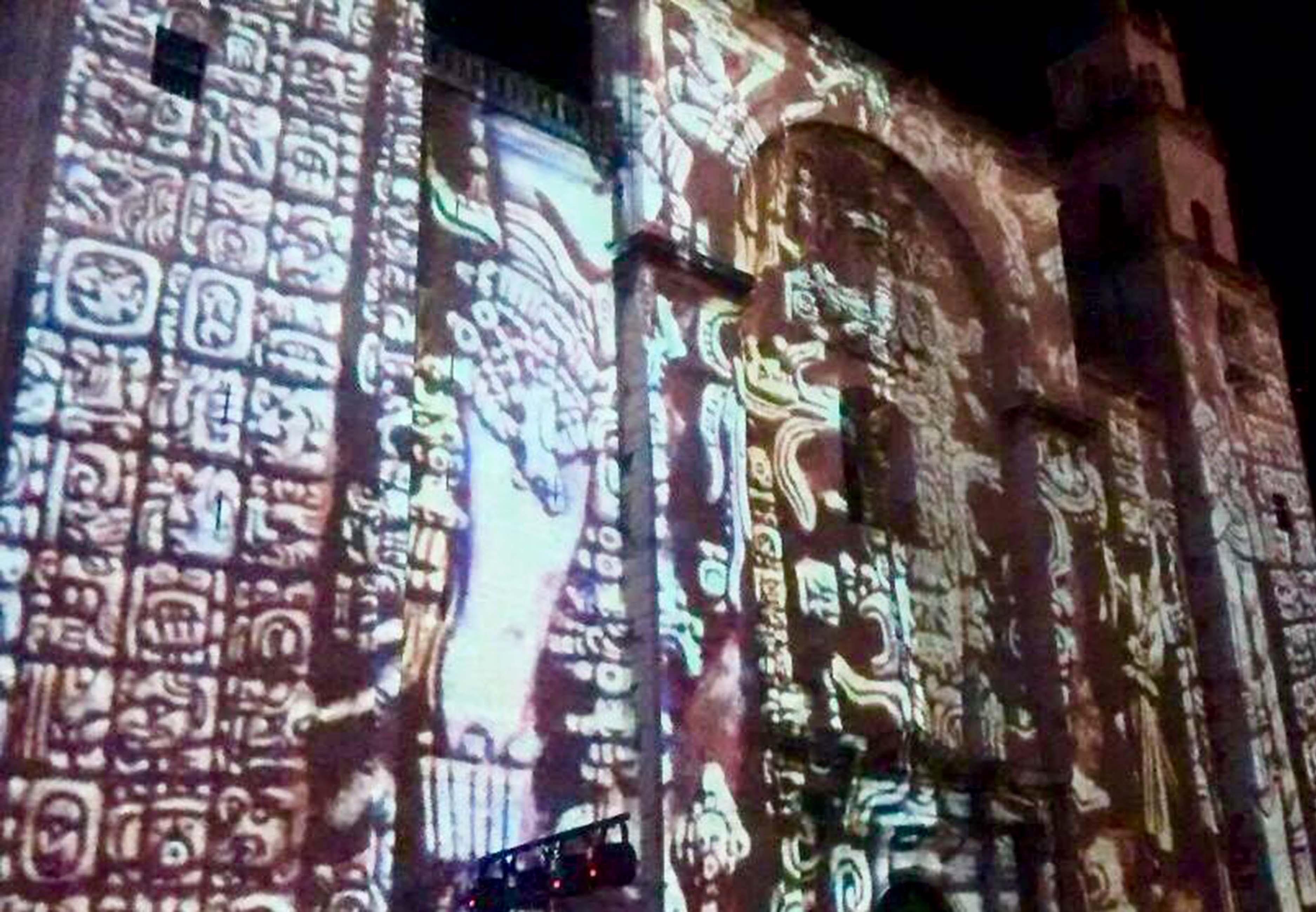 Videomapping en La Catedral - Foto Ayuntamiento de Mérida.